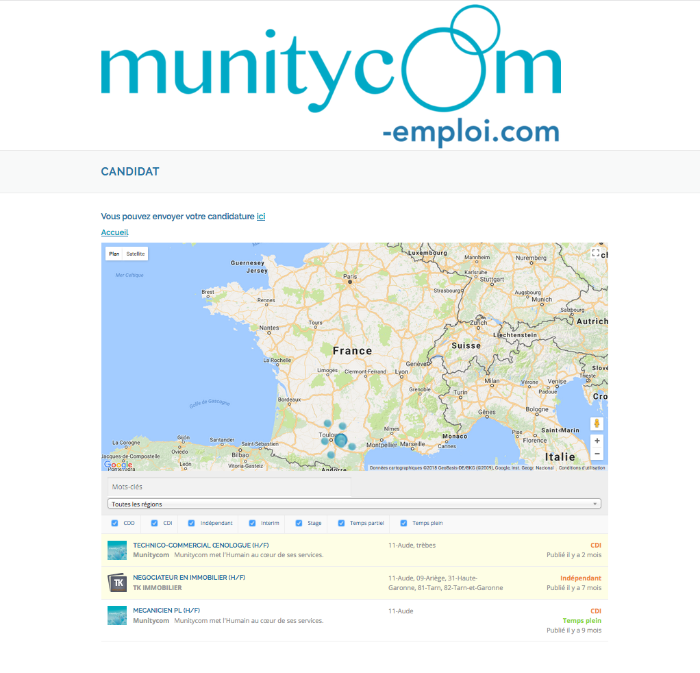Munitycom toulouse narbonne